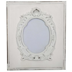 Cadre baroque blanc antique