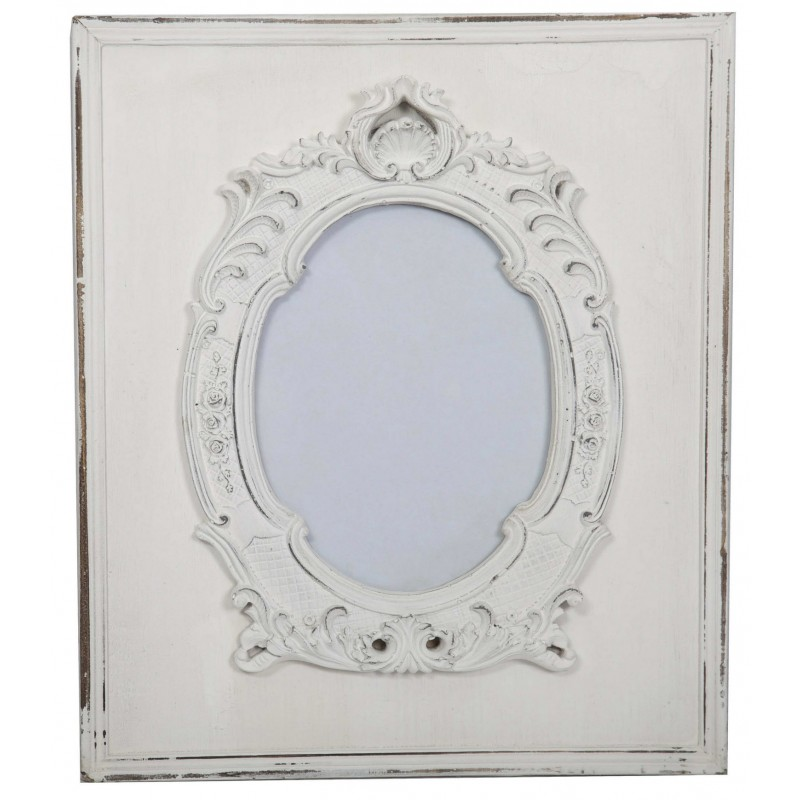 Antique white baroque frame by Antic Line, ideal for a shabby chic decor