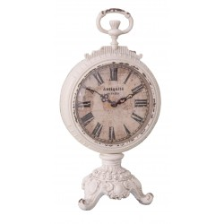 Pendulette baroque ANTIQUITÉ blanc antique