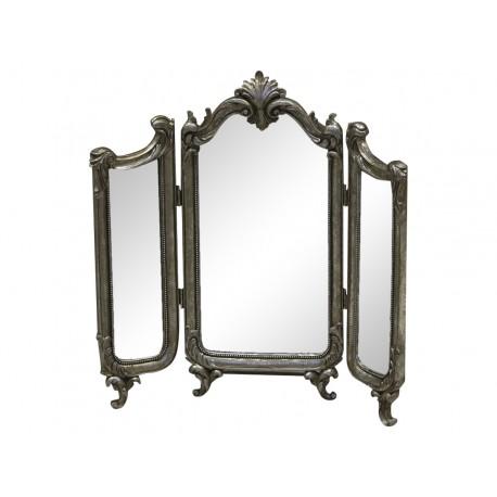 Triptyque de miroirs la fran aise couleur argent ancien par chic antique - Decoration a la francaise ...