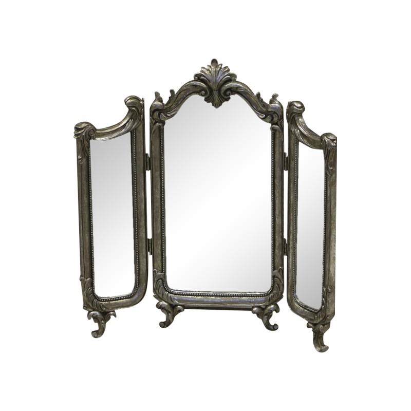 Triptyque de miroirs à la Française couleur argent ancien par Chic ...