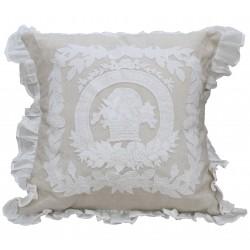 Coussin Porcelaine en lin 45x45
