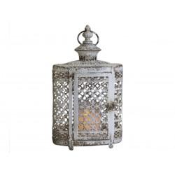 Lanterne blanc antique à bord de perle