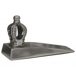 Doorstop with crown antique silver