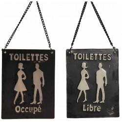 Plaque de toilettes sur chainette LIBRE-OCCUPE