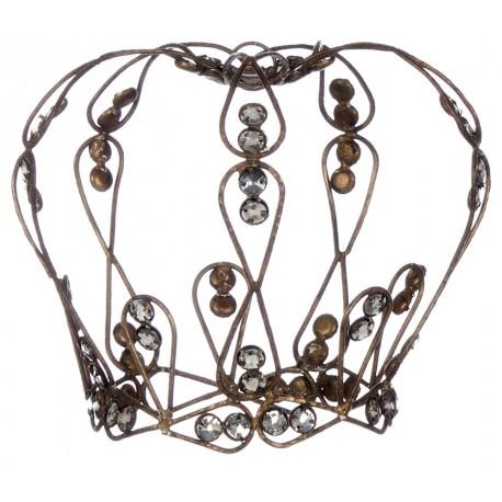Couronne décorative au fil de fer - M