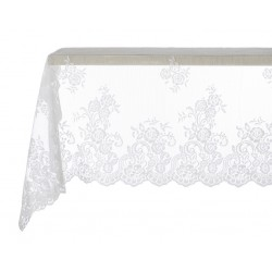 Table cloth Off white Victoria 150 x 150