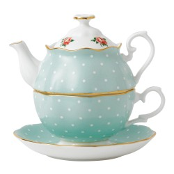 Friendship Tea For One Polka Rose collection