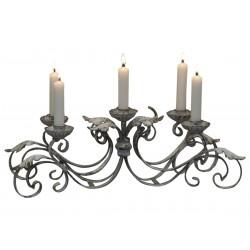 Chandelier de table pour 5 bougies couleur crème antique