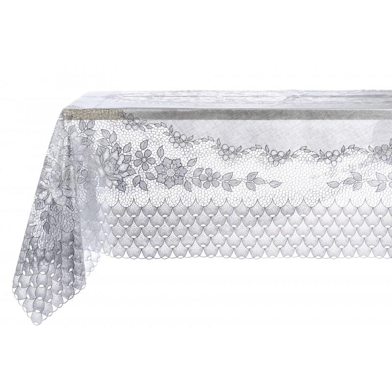 nappe en dentelle de vinyle argent par blanc mariclo id ale pour une d co shabby. Black Bedroom Furniture Sets. Home Design Ideas