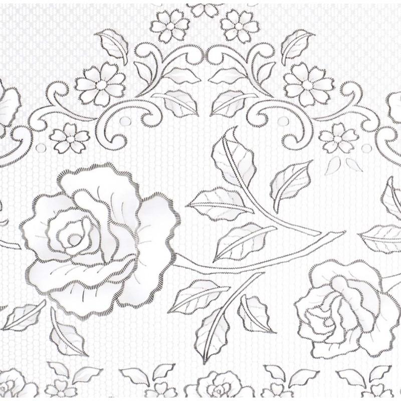 nappe en dentelle de vinyle argent par blanc mariclo pour une d co shabby chic. Black Bedroom Furniture Sets. Home Design Ideas