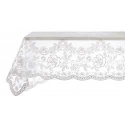 Vinyl lace tablecloth Silver 112 x 112 cm