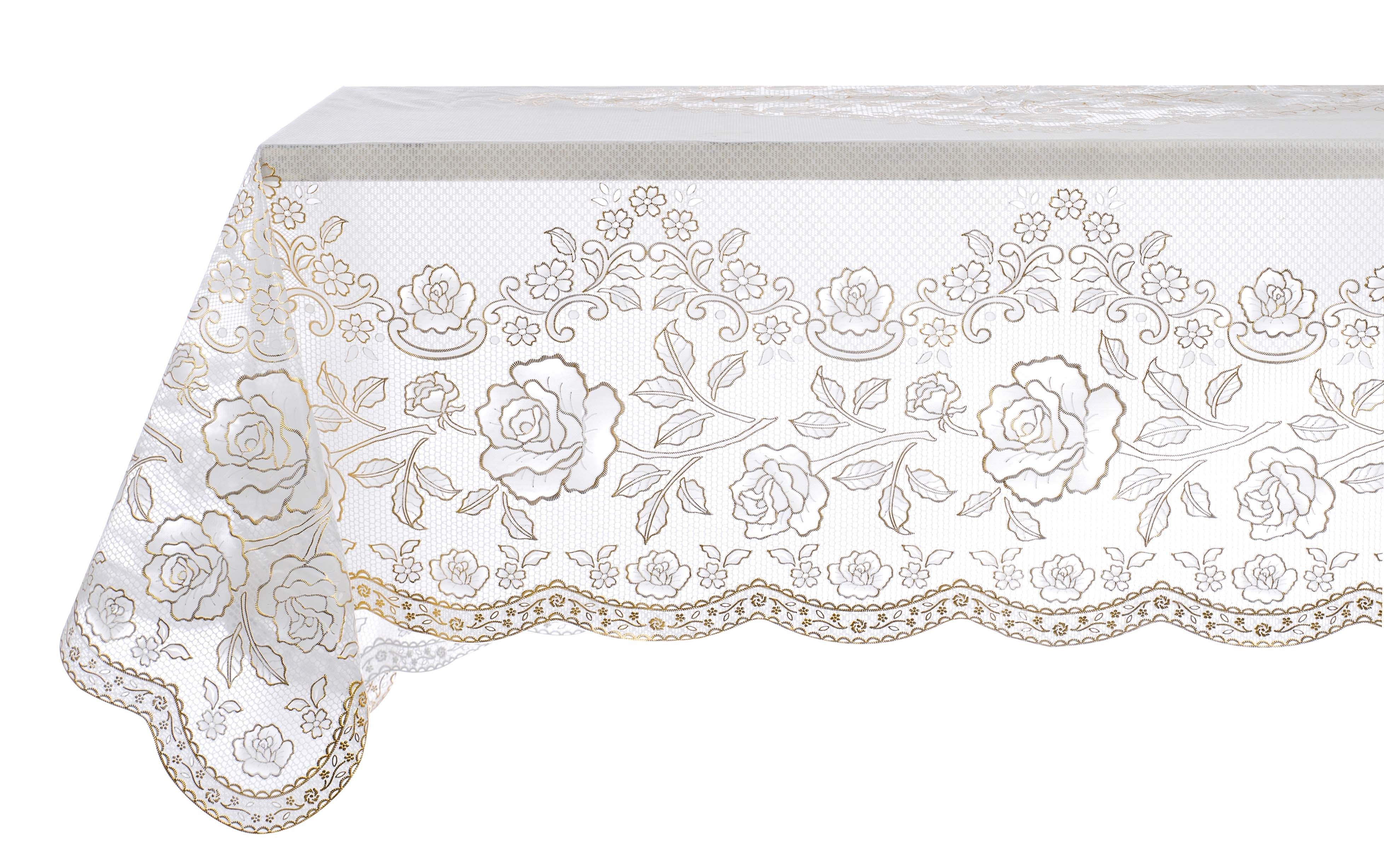 Vinyl Lace Tablecloth Gold By Blanc Mariclo Ideal For A Shabby Chic Decor