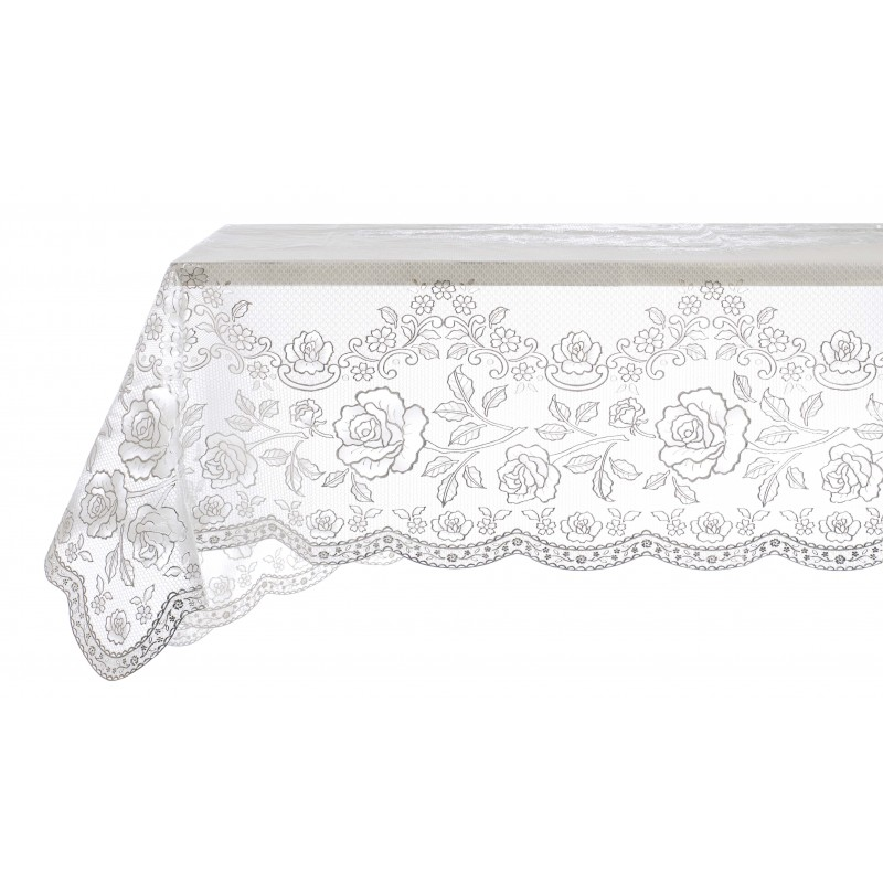 Vinyl Lace Tablecloth Silver By Blanc Mariclo Ideal For A