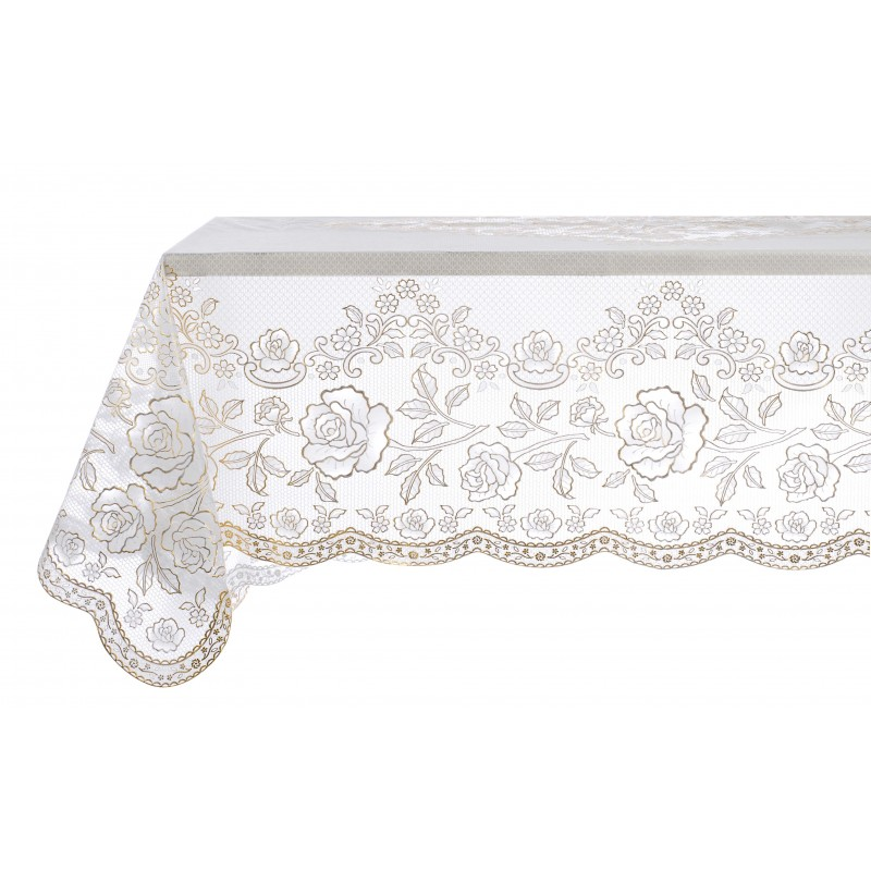 nappe en dentelle de vinyle or par blanc mariclo pour une d co shabby chic. Black Bedroom Furniture Sets. Home Design Ideas