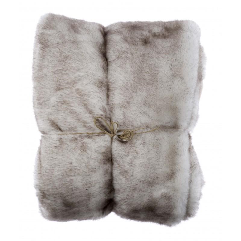 Plaid fourrure alaska white fox par blanc mariclo id al - Plaid pour lit 140 ...