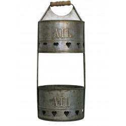 "Metal basket ""ail - oignons"""