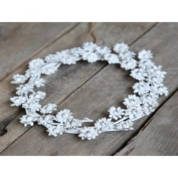 Wreath with flowers antique white
