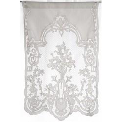 Kitchen curtain Tubéreuse ivoire