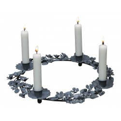 Wreath antic grey with 4 holders
