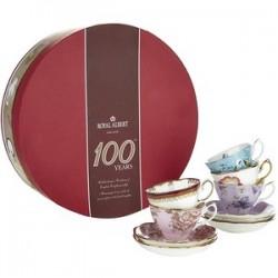 5 Set Teacup & Saucer 100 Years Collection Royal Albert 1950-1990