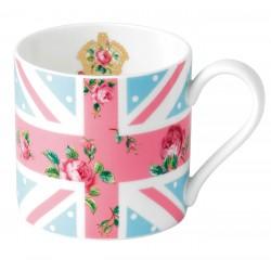 Cheeky Pink Modern Union Jack Mug