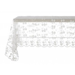 "Nappe blanc cassé 140 x 140 cm ""Crema Collection"""