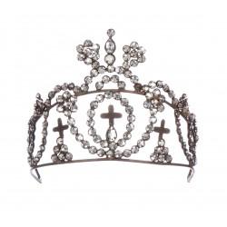 Couronne tiare décorative à cristaux
