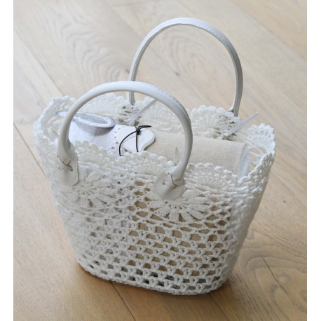 Macramé bag with towel set