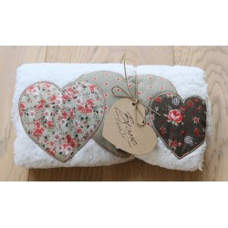 "Pochette de serviettes love ""Liberty Collection"""
