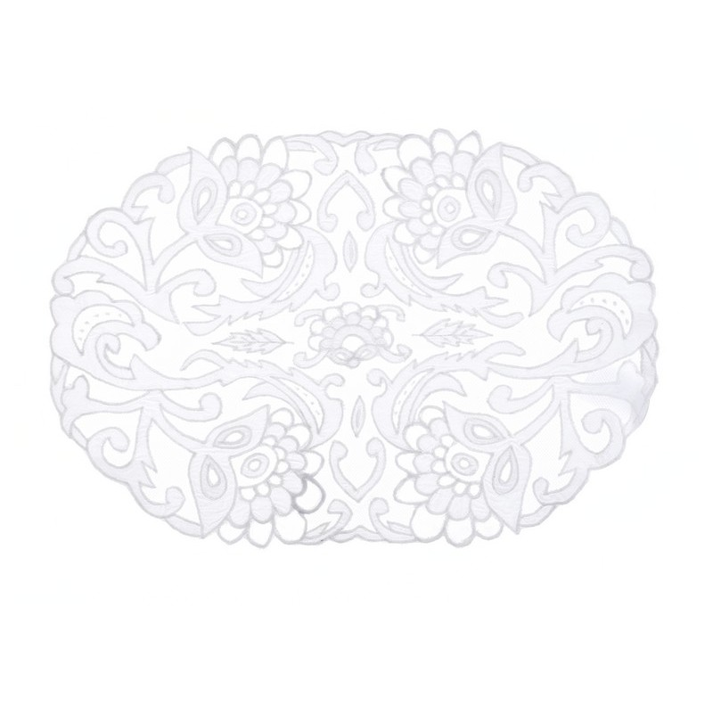 Set De Table Blanc : set de table blanc easther collection par blanc mariclo pour une d co shabby chic ~ Teatrodelosmanantiales.com Idées de Décoration