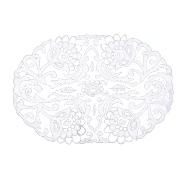 set de table blanc easther collection par blanc mariclo. Black Bedroom Furniture Sets. Home Design Ideas