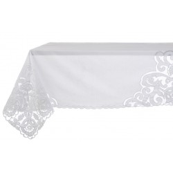Nappe blanche Easther collection 120 x 120 cm