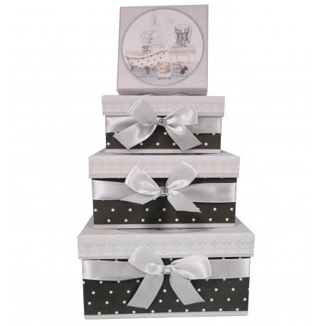 "Set 3 round paper box ""angel"""