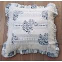 Cushion Papier Peint ivory 45x45