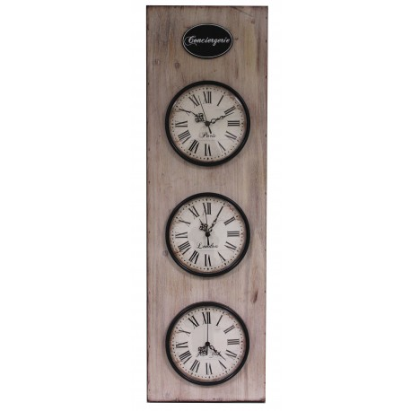 """Wall clock """"Shabby Chic Roses"""""""