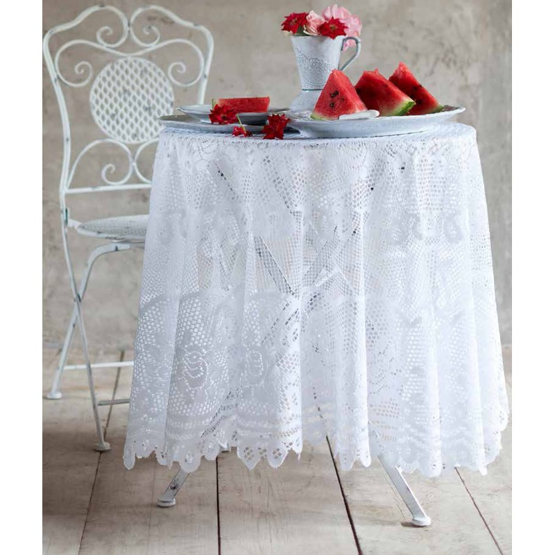 Lace round table cloth Villa Roseto Collectionby Blanc Mariclo ...