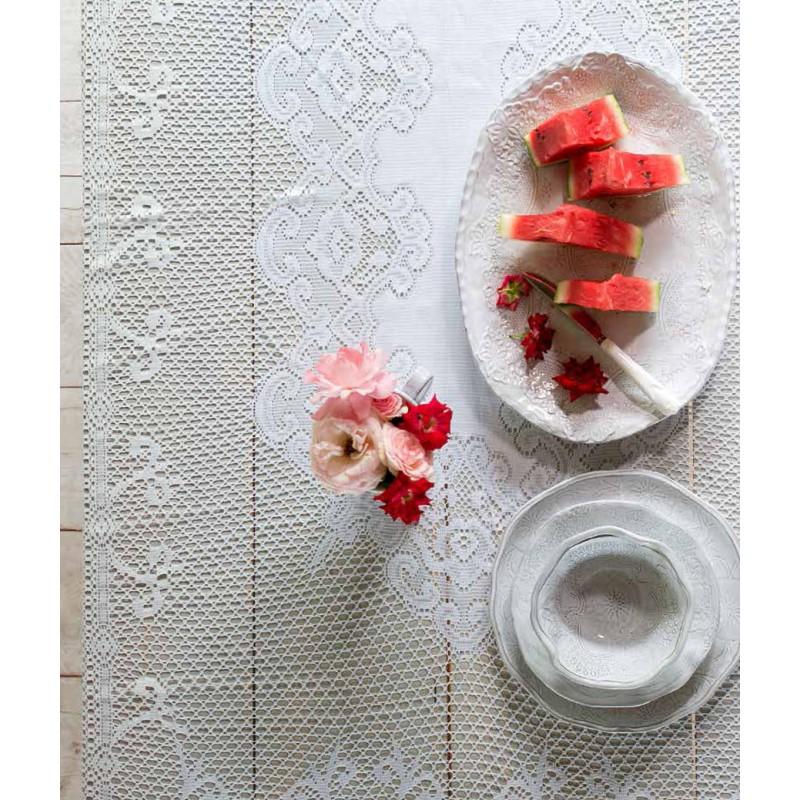 nappe en dentelle villa amalfi par blanc mariclo id ale pour une d co shabby chic. Black Bedroom Furniture Sets. Home Design Ideas
