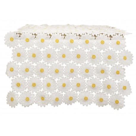 Chemin de table en dentelle de marguerites Daisy Collection
