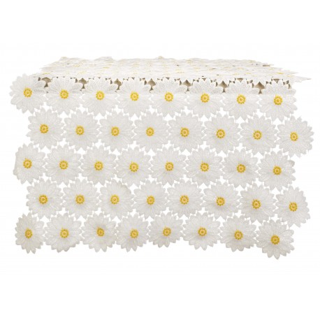 Chemin de table en dentelle de marguerites Daisy Collection