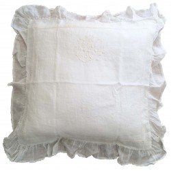 "Pillowcase ""Les toiles de nuit"" 65 x 65 cm ivory"
