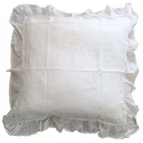 "Pillowcase ""Les toiles de nuit"" 65x65 ivory"