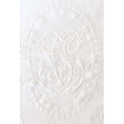 "Nappe ""Ariane"" 170 x 260 cm blanche"