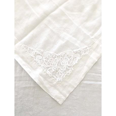 """Tablecloth """"Sortilèges"""" 170 x 260 cm white"""