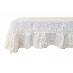 "Tablecloth ""Chimène"" 170 x 260 cm ivory"