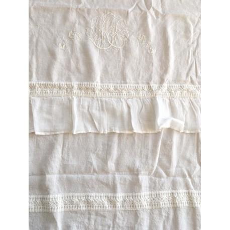 """Curtain """"Les toiles de nuit"""" 140 x 280 cm ivory"""