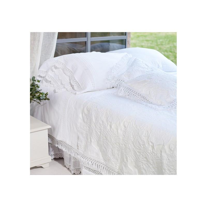 couvre lit 260 260 Couvre lit Blanc