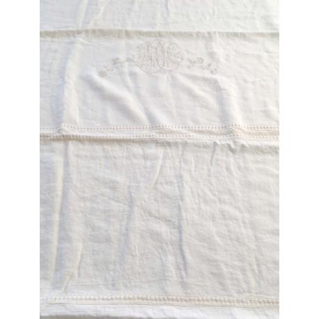 """Duvet cover """"Les toiles de nuit"""" 240 x 260 cm ivory"""