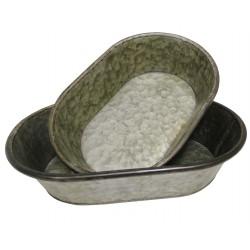 Set de 2 bassines en zinc