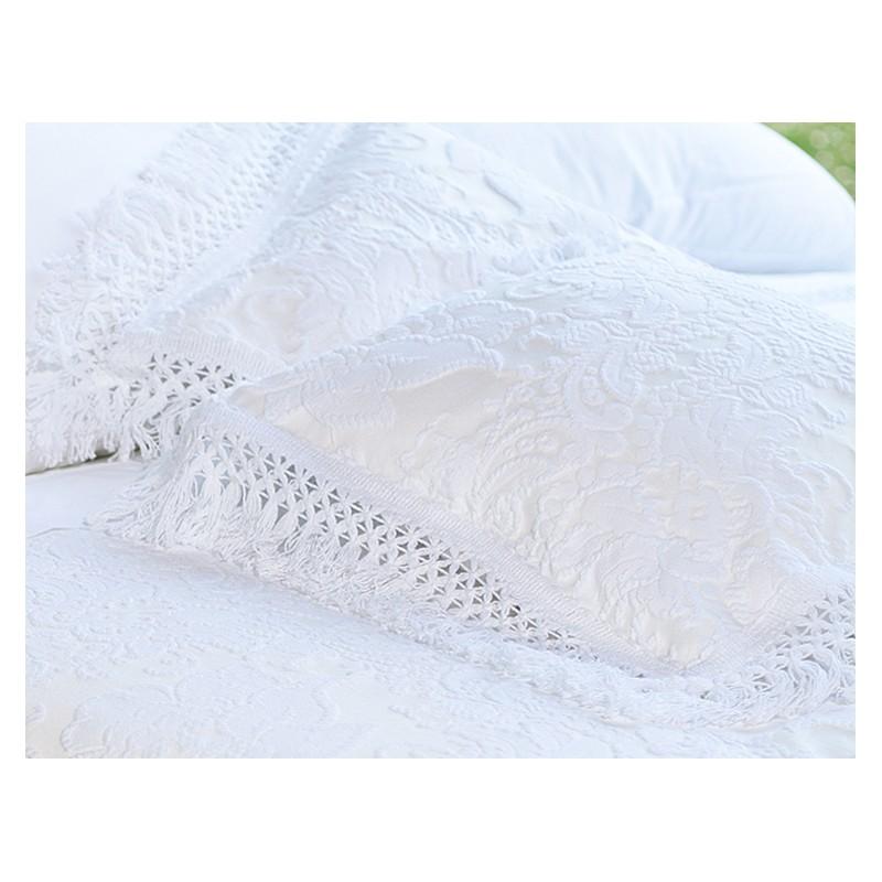 housse de coussin blanc ana 45 x 45 cm par. Black Bedroom Furniture Sets. Home Design Ideas